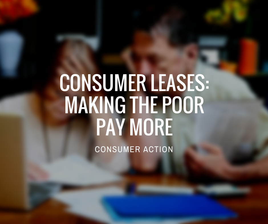 Consumer leases poor people pay
