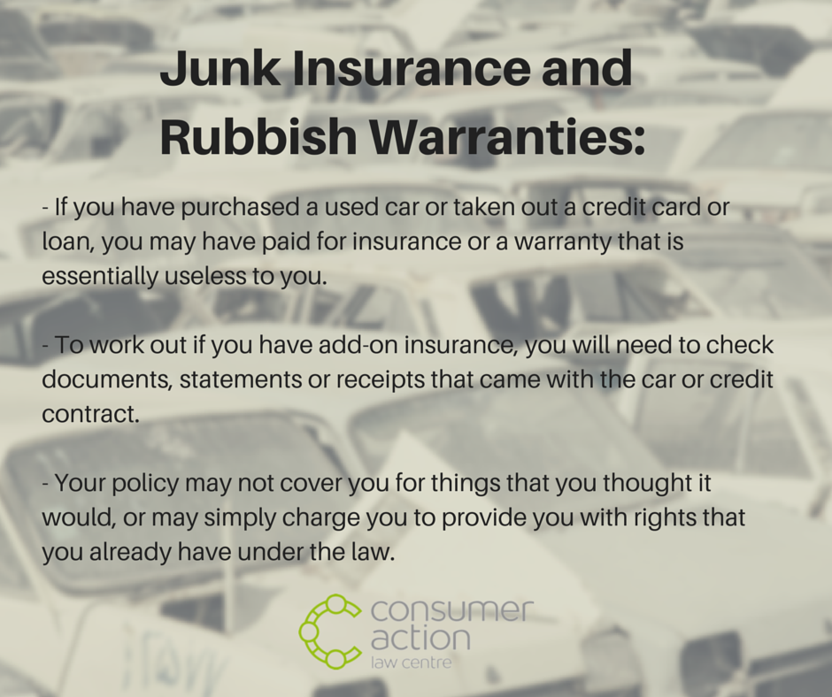 Junk Insurance and Rubbish Warranties_