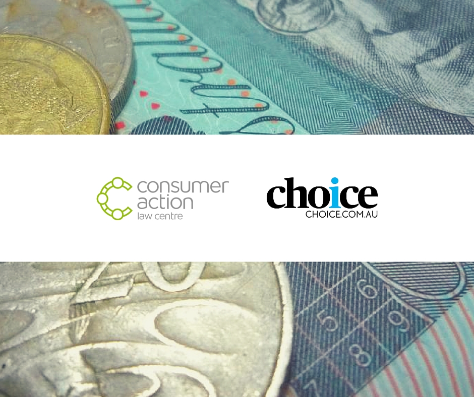 Consumer Action and CHOICE logos